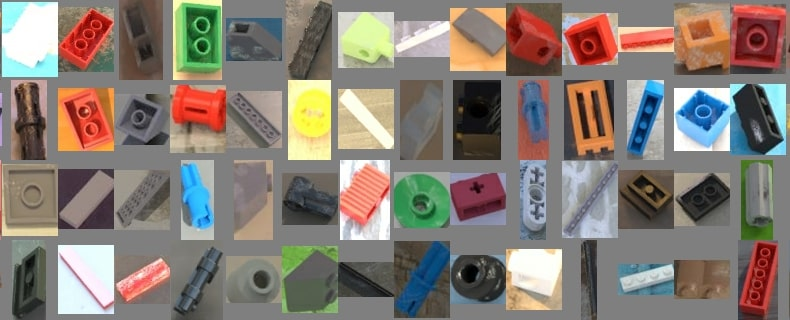 изображенията, с които сортира машината LEGO с AI