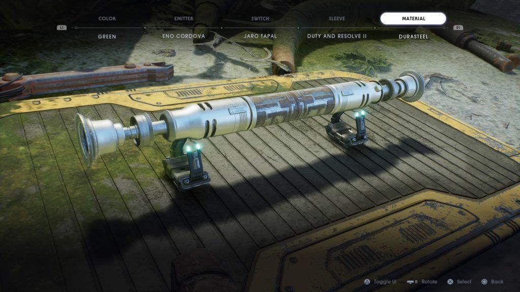 персонализацията на светлинния меч е страхотна