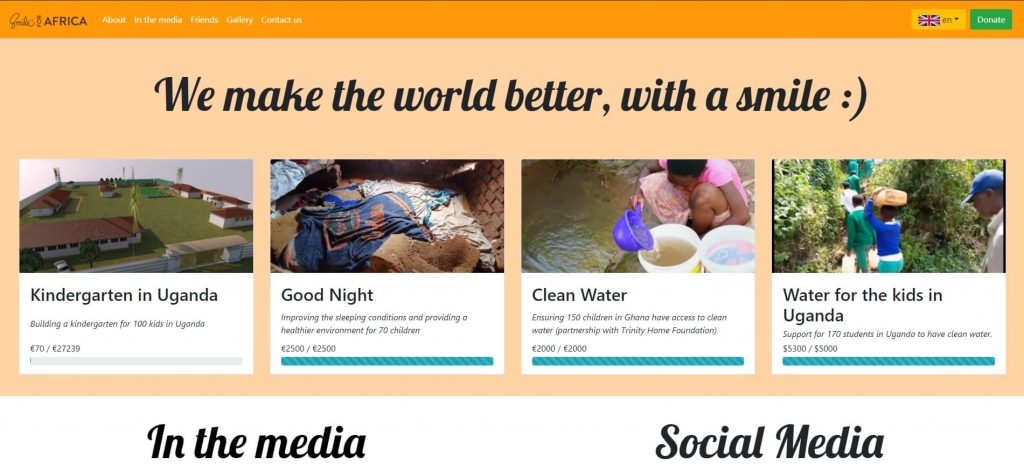 Smile for Africa - Благотворителен проект на Радостин Чолаков