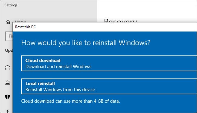 Cloud Download опцията в новия Windows 20H1 ъпдейт