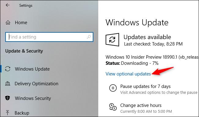 Допълнителни опции за избор на ъпдейти в новия Windows 20H1 ъпдейт