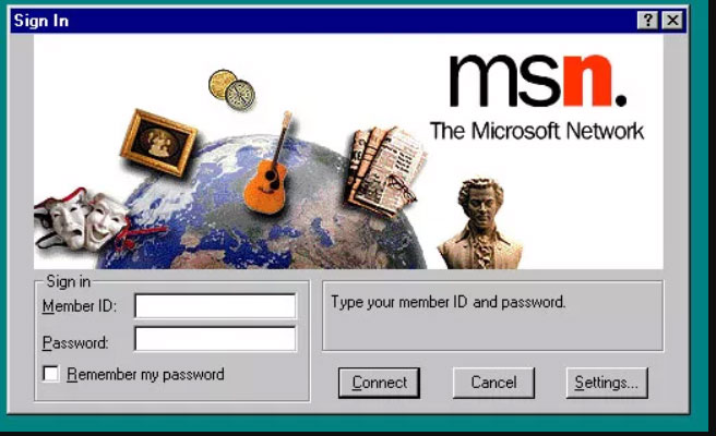 MSN Windows 95