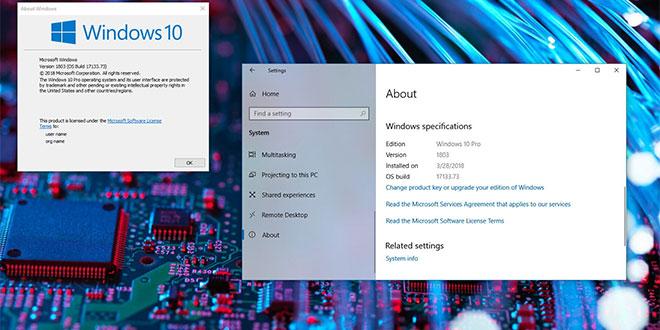 Windows 10 версия 1803