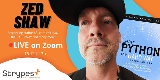 Zed Shaw изнася безплатна лекция по Python в сряда