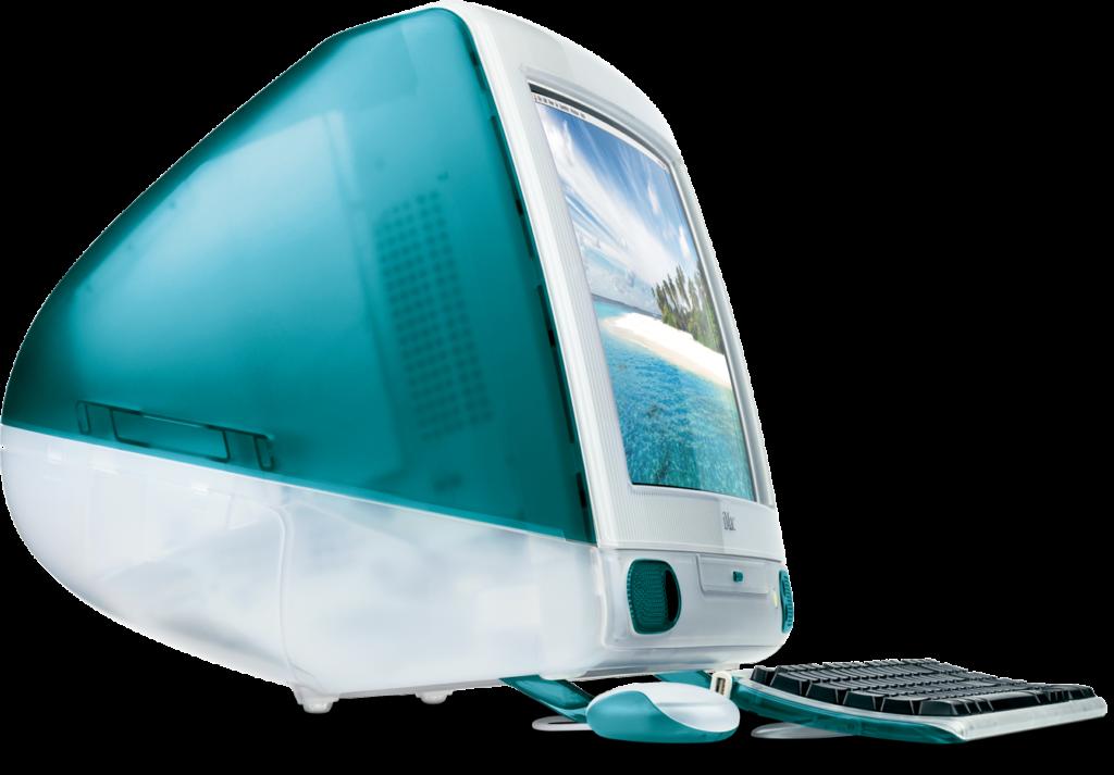 """""""Bondi blue"""" iMac от 1998 г. Източник: apple"""