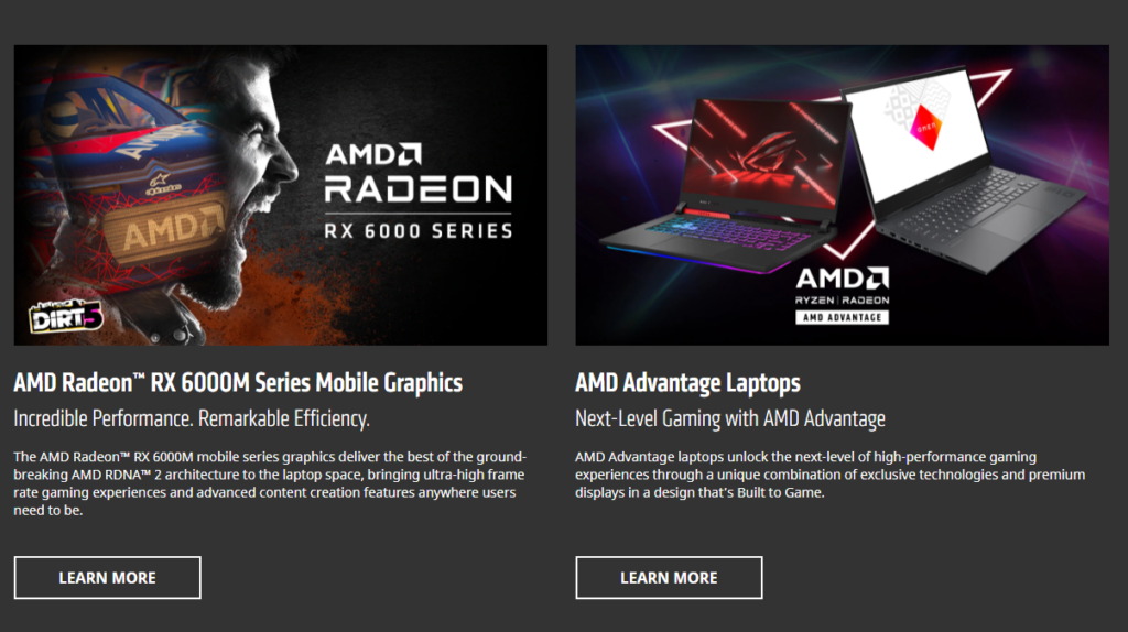 AMD RX 6000M серията и AMD Advantage