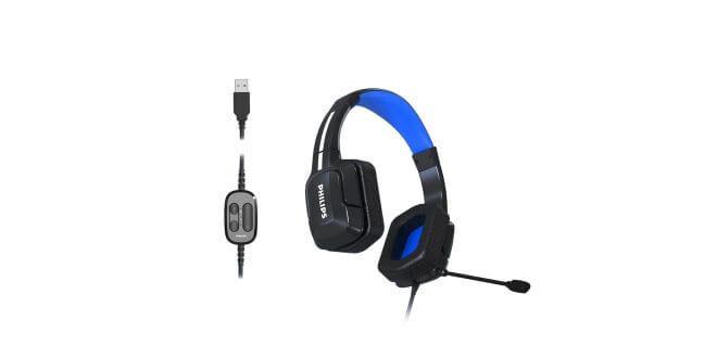 геймърски слушалки Philips TAGH301BL и TAGH401BL - основна снимка